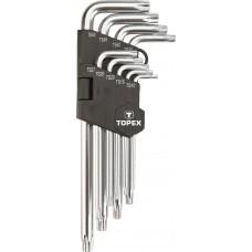5-kant võtmete komplekt 9-osaline pikad, TS10-TS50