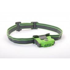 Pealamp, LED 48lm, 2xAAA, 16m, roheline kaasas kinnitus nokamütsile