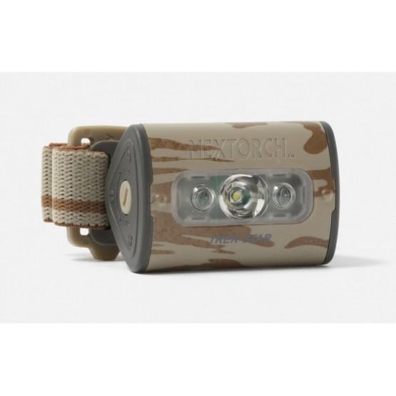 Pealamp, LED 220lm, 3xAAA, 73m, kamuflaaž